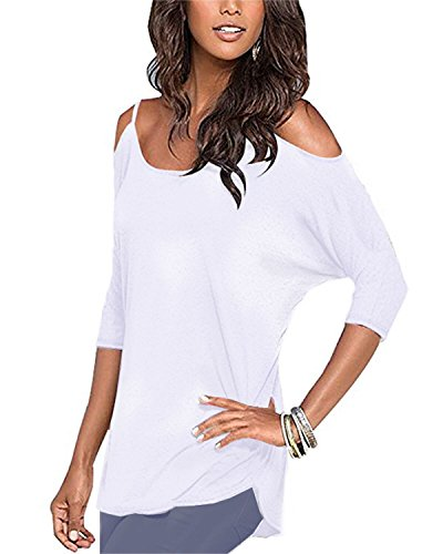 Styleword Womens Three quarter Sleeves Shoulder