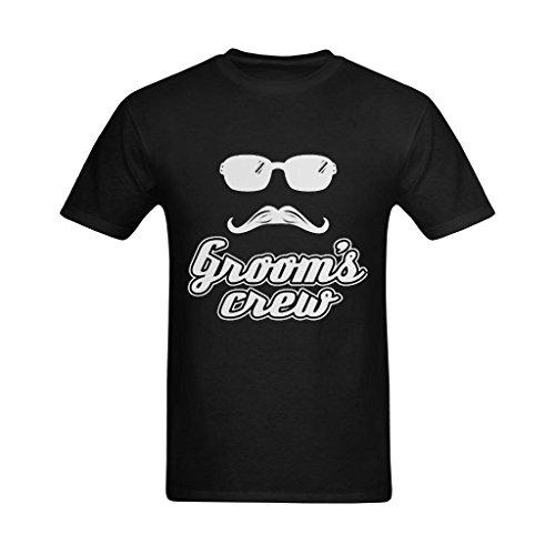 Neryaing Men's Bachelor Party Achelor Husband Groomsman Roomsmen Best Printed T-shirt -