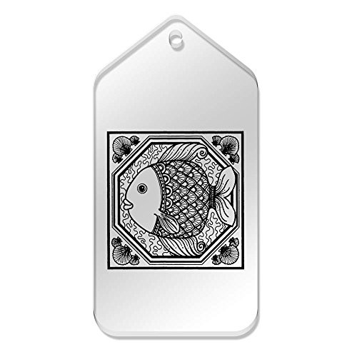 Labels Fish Ornament' tg00031442 Clear 51 99Mm 'Square Large X 10 fpHq44