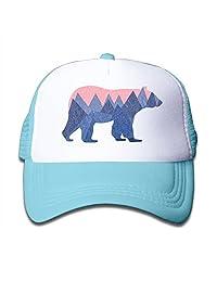 Xin Pilig Bear Mountain Youth Toddler Mesh Hats Boy and Girl Baseball Trucker Cap
