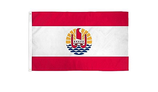 3x5 French Polynesia Flag France Republic Banner Polynesian Island Pennant Garden Outdoor