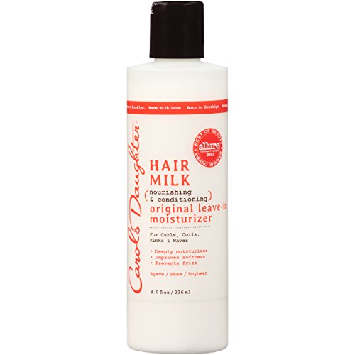 Curly Hair Products by Carol's Daughter, Hair Milk Original Leave In Moisturizer For Curls, Coils and Waves, with Agave and Shea Butter, Hair Moisturizer For Curly Hair, 8 Fl. Oz (Packaging May Vary)