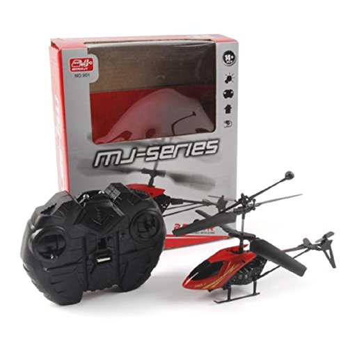 RC Helicopter - Coerni Mini 2 Channel Aircraft Toys Flying to 65.6 ft Height (Red)