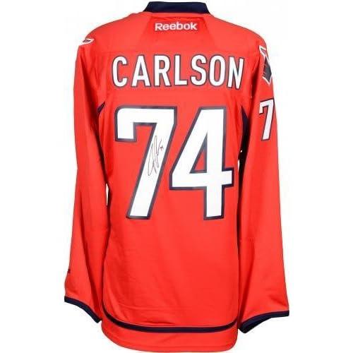 0460fac10 Framed John Carlson Washington Capitals Autographed Red Reebok Premier  Jersey - Fanatics Authentic Certified 30%