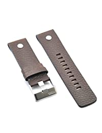 Fit Diesel Little Daddy Replacement Leather Watch Strap Band 24mm brown DZ7258 Similar Strap