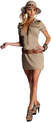 Secret Wishes Womens Tarzan Hunter Jane Costume, Khaki, Small -