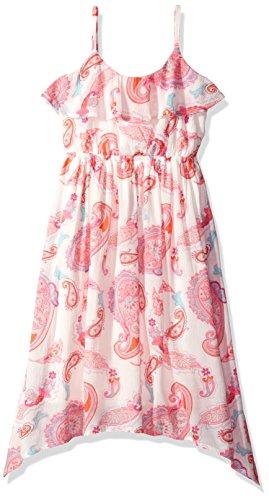Dresses For Children (The Children's Place Big Girls' Paisley Sharkbite Dress, Simplywht, M (7/8))