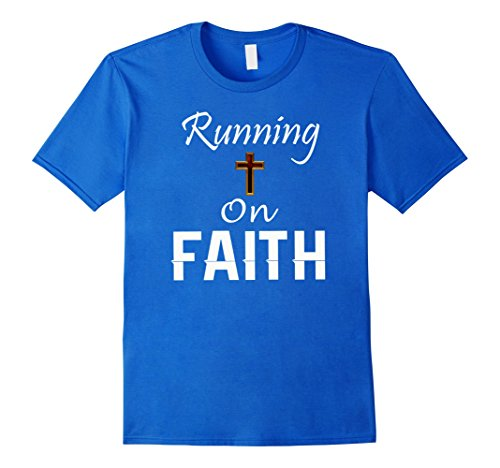 Men's Running on Faith God Christian Run Religious Runner...