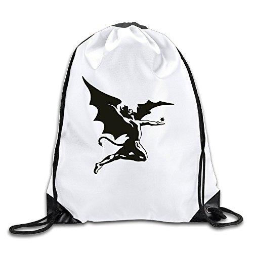 Price comparison product image Black Sabbath Tony Iommi Geezer Butler Ozzy Osbourne White Drawstring Backpack Sport Bag For Men&women