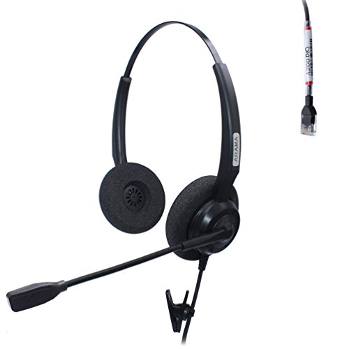 Arama corded RJ  Headset Binaural with Noise Canceling Microphone