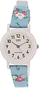 Casio Women's Leather/Fabric Blue