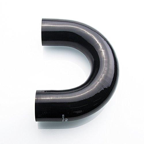 Ø 70mm Silikonschlauch 180° Bogen / Verbinder ( Schwarz ) Schlauch Arlows