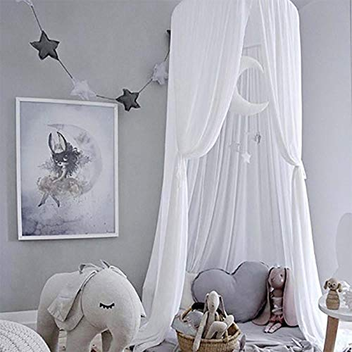 Piu Fashion Bed Canopy Dream Tent Curtains and Crib Canopy for Girls and Boys Bedding Game House-White - Fashion Bed Canopy Bed