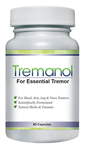 Tremanol – All Natural Essential Tremor Supplement – Provides Long-Term Herbal Relief to Reduce and Soothe Shaky Hands, Arm, Leg, & Voice Tremors Plus Includes Bonus ET Recipes E-book