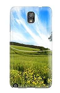 Awesome Galaxy Defender Tpu Hard Case Cover For Galaxy Note 3 Green Fields
