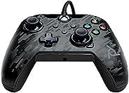 PDP Gaming Wired Controller: Phantom Black - Xbox Series X|S, Xbox One, Xbox, Windows 10, 049-012-NA-CMBK - Xb