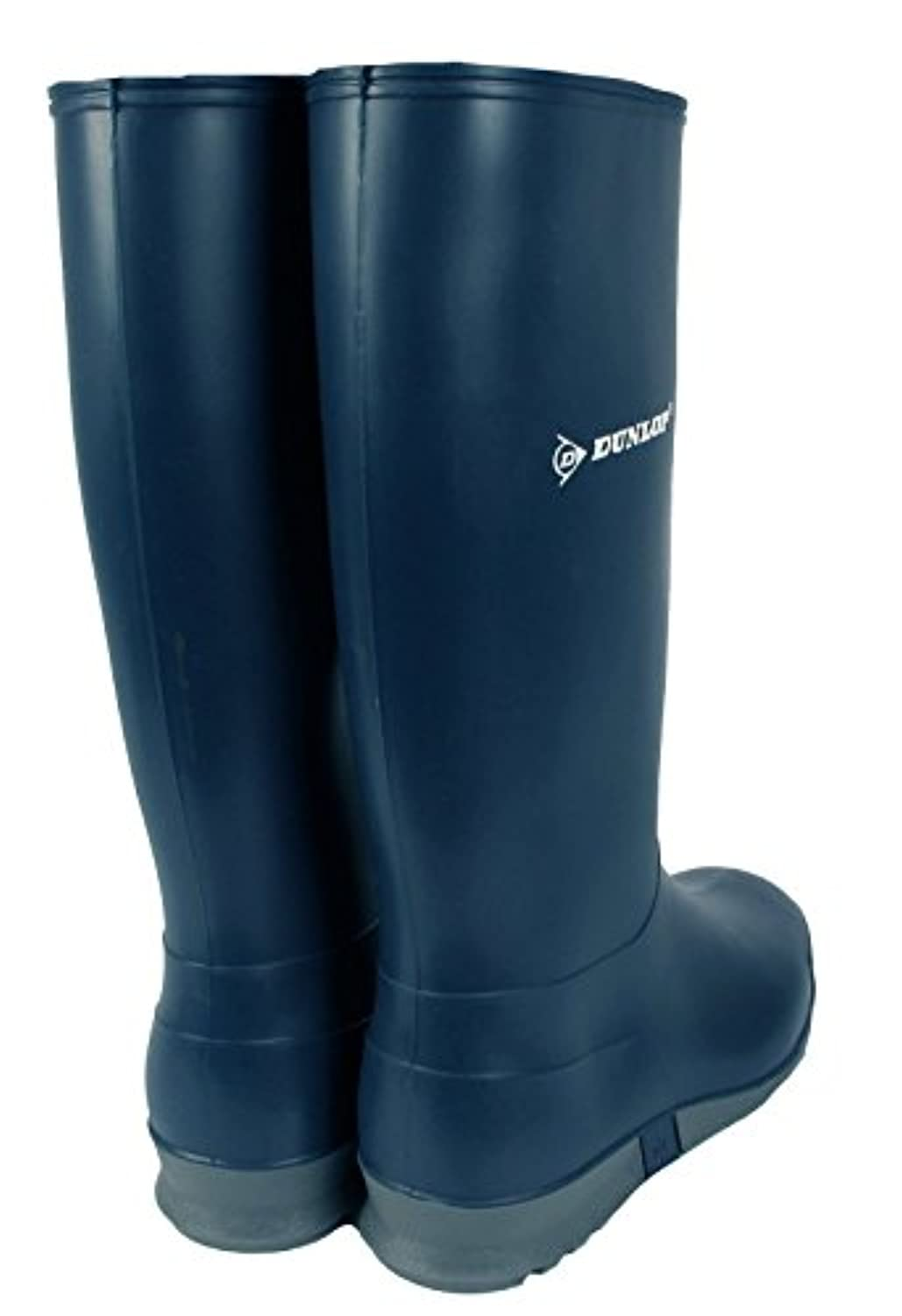 Boys Girls Kids Junior Dunlop Waterproof Wellies Wellington Boots (EU 31, Blue/Grey)