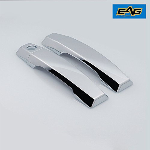 EAG 2 Door Handle Cover Triple Chrome Plated ABS Fit for 04-15 Nissan Titan/Armada ()