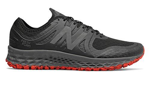 (New Balance Men's Kaymin V1 Fresh Foam Trail Running Shoe, Black/Flame/Reflective, 10 4E US)