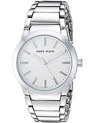 Anne Klein Womens AK/2907SVSV Silver-Tone Bracelet Watch