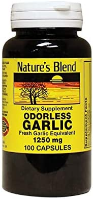 Nature s Blend Odorless Garlic 1,250 mg 100 Caps