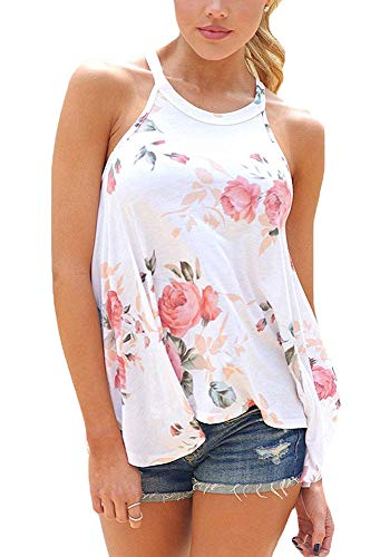 Summer Tank Tops for Women Floral Blouse
