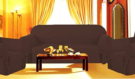 Sofa Couch Cover Slipcover 3 Pc Set Loveseat Chair Covers