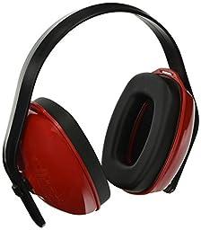 Howard Leight QM24 Multiple Positioning Headband Earmuff, Red
