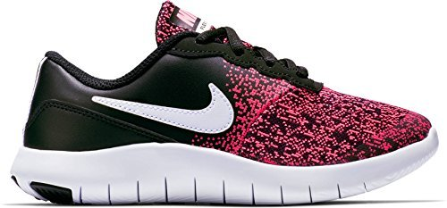 NIKE KIDS FLEX CONTACT (PS) SHOES BLACK WHITE RACER PINK SIZE 12.5