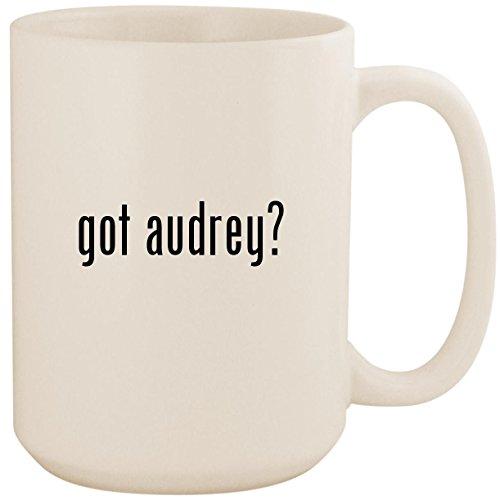 got audrey? - White 15oz Ceramic Coffee Mug Cup