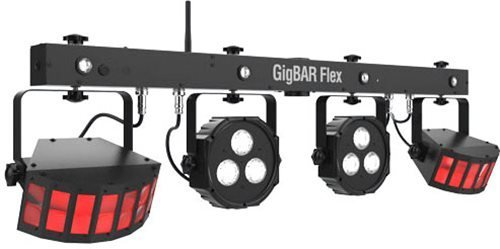 CHAUVET DJ GigBAR Flex 3-in-1 Pack-n-Go LED Lighting Effect System w/2 LED Derbys, LED Quad-color Pars, and Strobes by CHAUVET DJ