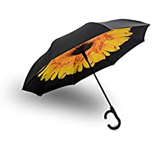RAINPAL Inverted Automatic Rain Umbrella | Ergonomic C-Shaped Handle | Windproof & Water Repellent Double Layer Reversible Canopy | For Cars, UV Sun Protection, Travel & More