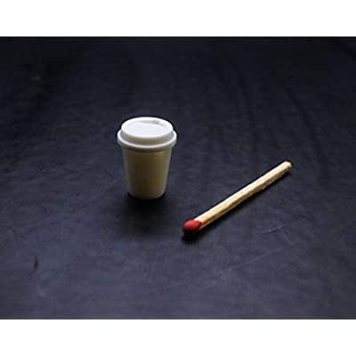 ChangThai Design 10 Psc of Hot Coffee Cup Dollhouse Miniature Handmade Food Supply: Toys & Games