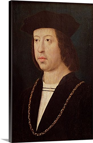 Portrait of Ferdinand II (1452-1516) King of Spain (oil on panel) Gallery-Wrapped Canvas by greatBIGcanvas