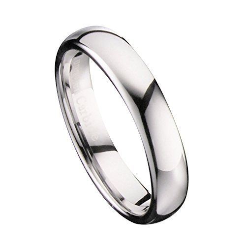 4 Mm Mirror - MJ Metals Jewelry 4mm Mirror Polished Comfort Fit Ring Tungsten Carbide Wedding Band Size 13