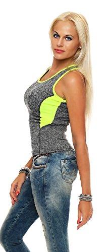 Fashion Design - Camiseta sin mangas - para mujer IL21 gelb