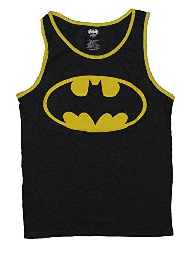 Batman+tank+top Products : Batman (DC Comics) Reversible Tank Top - Classic Logo and Action Pose Image