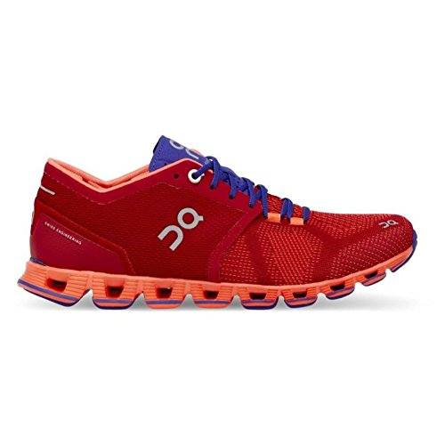 On Running Womens Cloud X Road Shoes Red/Flash SZ 6.5 (Best Shoes On Feet)