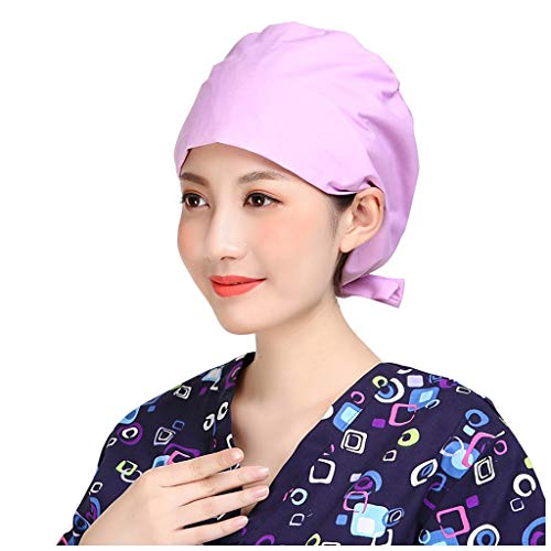 Scrub Cap for Doctor Nurse Print Cotton Adjustable Hat Medical Uniform Bouffant Cap Headwear Headband