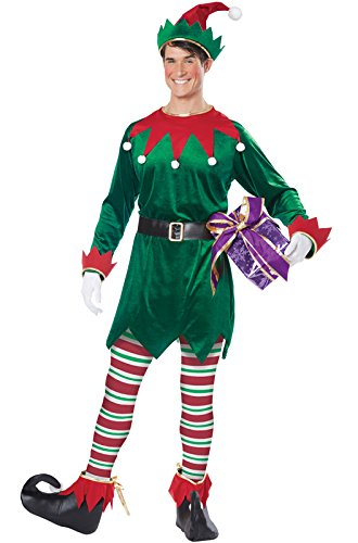 California Costumes Christmas Elf Adult, Green/Red, Medium - http://coolthings.us