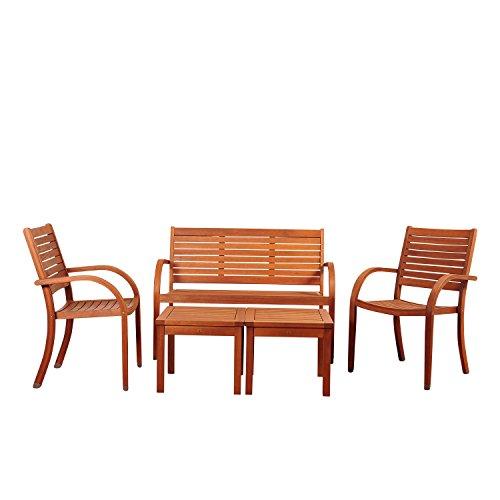 Amazonia Abilene 5 Piece Eucalyptus Seating Set - Abilene Furniture Set