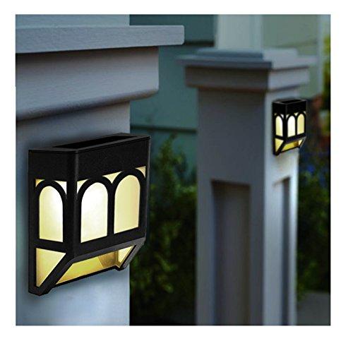 Upgrade Solar Powered Wall Mount Lights Landscape Garden Yard Fence Outdoor Lights White Warm (8)