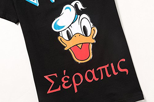 44ccfe0b805d ECTIC Homme Men s 3D print Donald Duck Fashion T-Shirts Tee Size M-XXXL  G5521 (Black)  Amazon.fr  Vêtements et accessoires