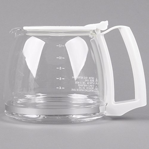 Silex Replacement Proctor (Proctor Silex 88180Y Glass 12 Cup Replacement Carafe with White Handle)