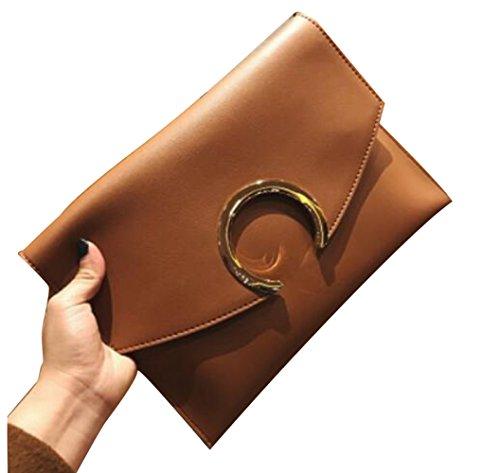 GZHGF Bolso De La Bolsa del Sobre De La Individualidad del Bolso De La Manera De Las Señoras Fashion Fashion Womenbag,Orange Orange