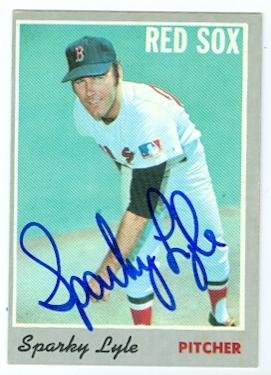 Autograph Warehouse 37436 Sparky Lyle Autographed Baseball Card - Boston Red Sox 1970 Topps - No. 116