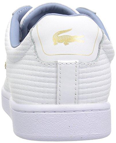 Lacoste Frauen Carnaby EVO 118 5 Spw Sneaker Weiß / Hellblau