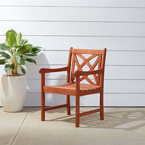 Vifah V1495 Outdoor Eucalyptus Patio Armchair
