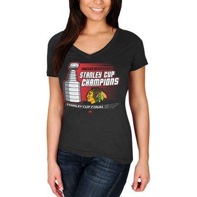 Chicago Blackhawks 2015 Stanley Cup Champs Womens Natural Hatty TシャツXXLサイズ   B00ZVJ4MLI