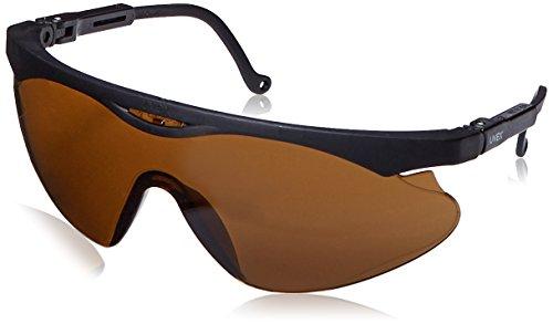 Uvex S2812 Skyper X2 Safety Eyewear, Black Frame, Espresso Ultra-Dura Hardcoat Lens